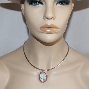 Sterling Silver Sardonyx Cameo Pin/Pendant